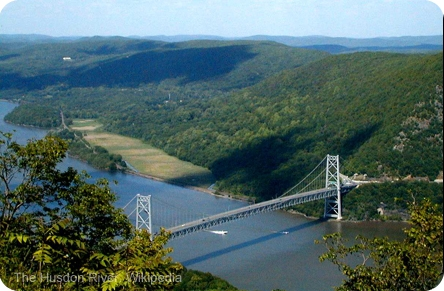 Hudson River. View from Bear Mountain